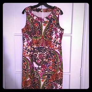 Multi colored fitted sleeveless dress